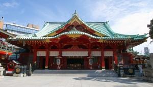 漆塗の神社
